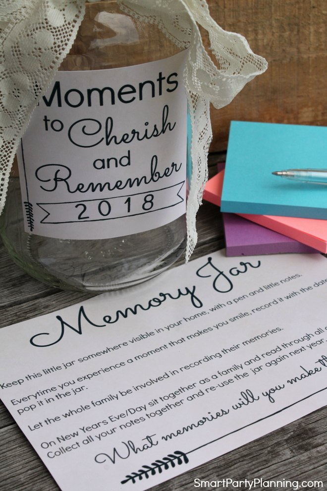 Moments to cherish memory jar