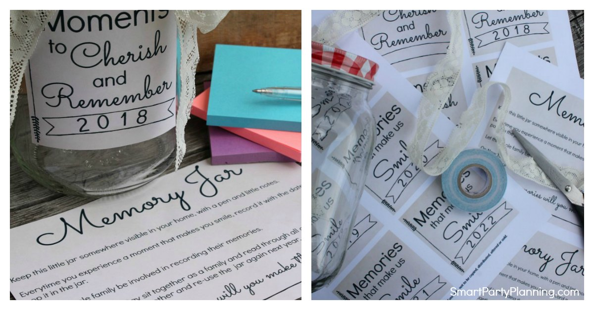 How To Make The Best Memory Jar With Free Printable