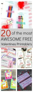 20 Awesome free valentines printables