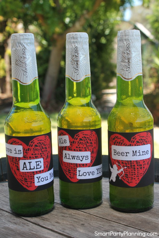 3 Valentine beer labels