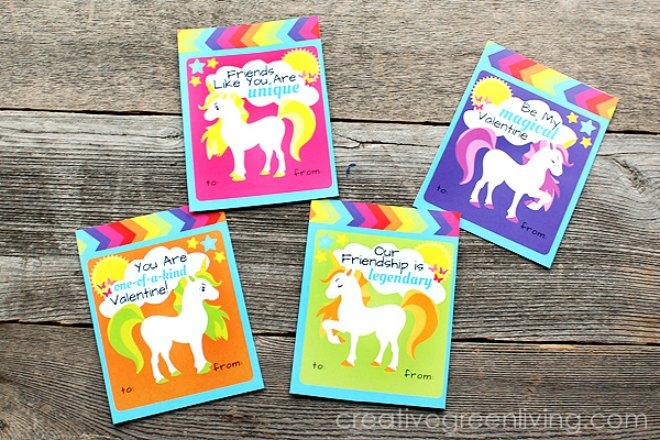 Free printable rainbow unicorn card
