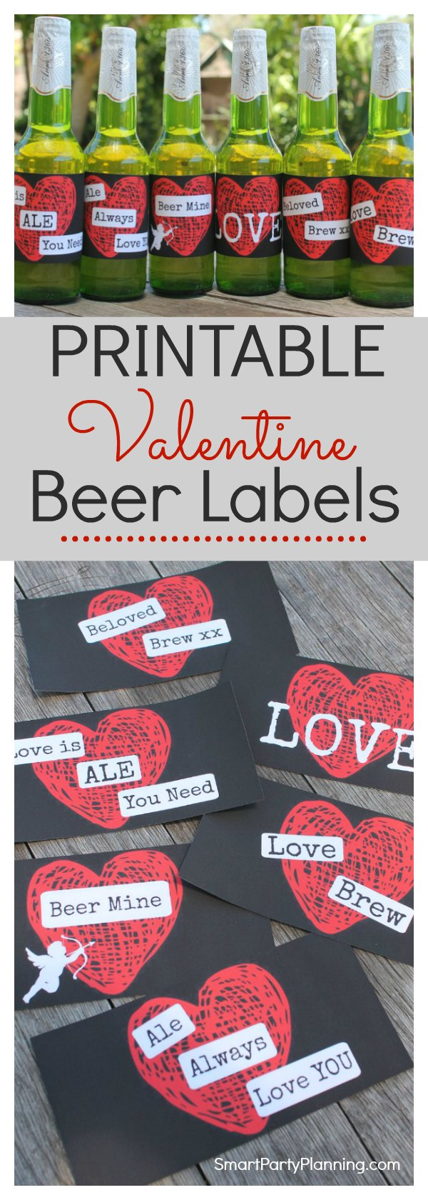 Printable Valentines Day Beer Labels