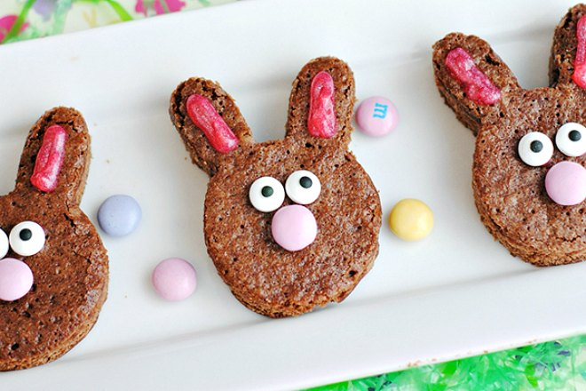 Easter Bunny Brownies