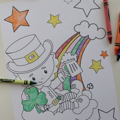 Free Leprechaun Coloring Pages Awesome For St Patrick's Day