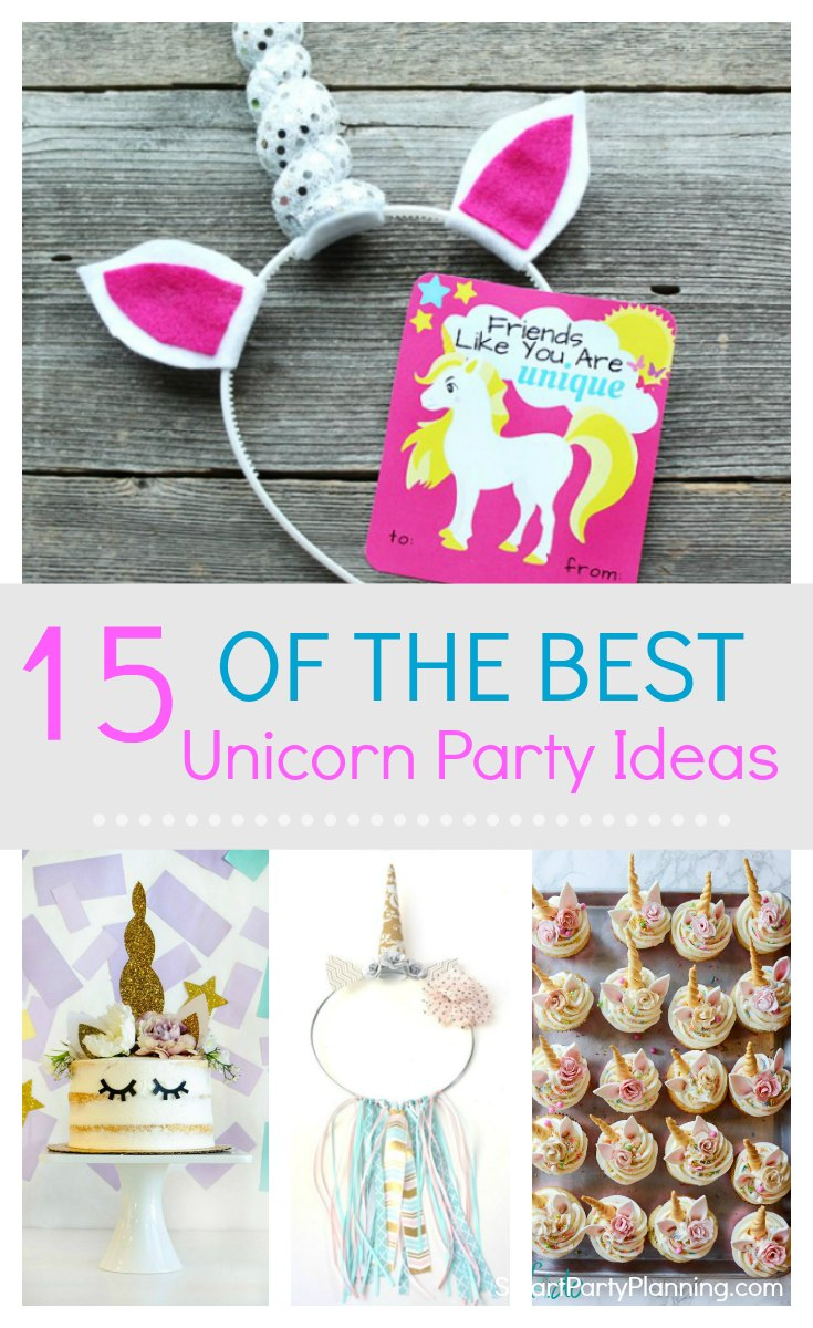 A unicorn birthday party is the perfect 'on trend' party theme for girls.  It's fun and pretty, and there are plenty of ways you can create a gorgeous DIY party on a budget. Here you will find 15 unicorn birthday party ideas for food, decorations and activities ensuring that this is a party the girls will absolutely love. #Unicornbirthdayparty #Unicornideas #Forgirls #DIY