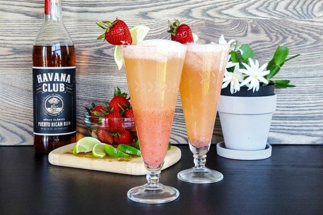 Strawberry dauquiri bellini