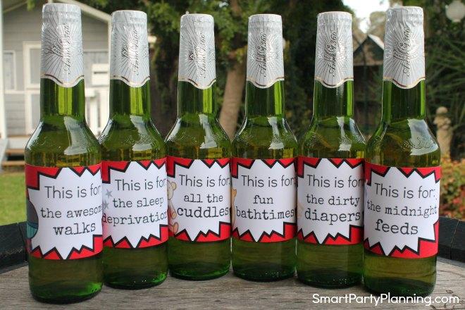 Set of 6 printable new dad beer labels
