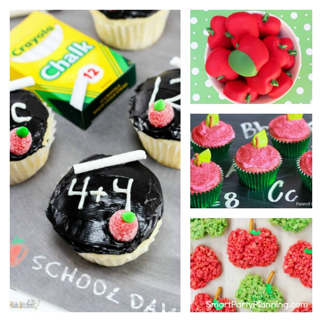 Collage of back to school party ideas