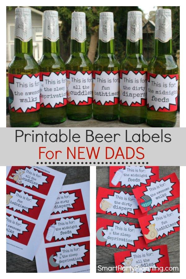 Printable new dad beer labels