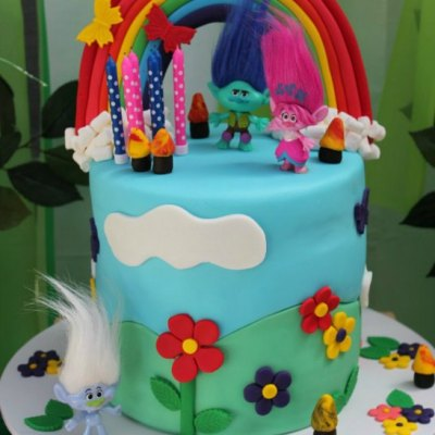 The Best Ever Easy Trolls Themed Birthday Party