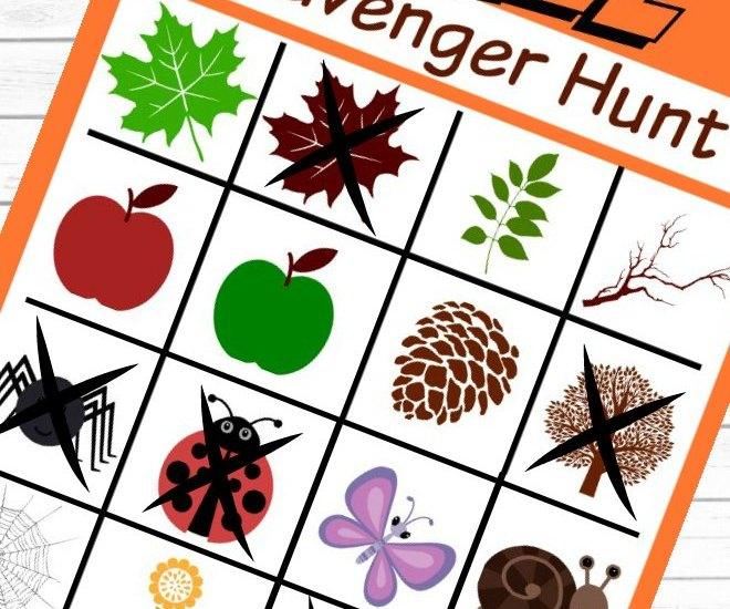Completing the Fall Scavenger Hunt Prinntable