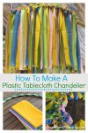 How to make a plastic tablecloth ceiling decoration