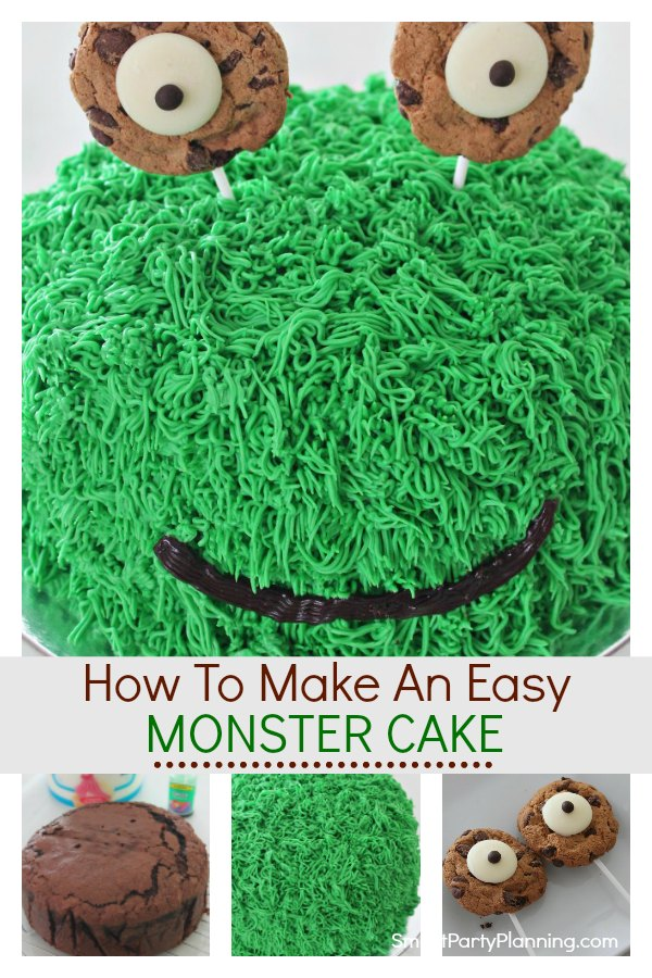 Pleasing How To Make A Super Cute Easy Monster Cake Personalised Birthday Cards Veneteletsinfo