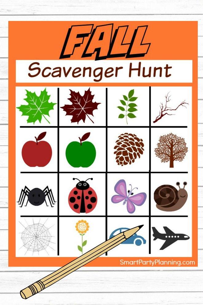 Printable Fall Scavenger Hunt