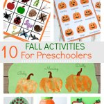 Super fun Fall activities for preschoolers that are fun and will also improve their motor skills. Including free printable activities for outdoor scavenger hunts, plus indoor activities to keep the kids entertained for hours.