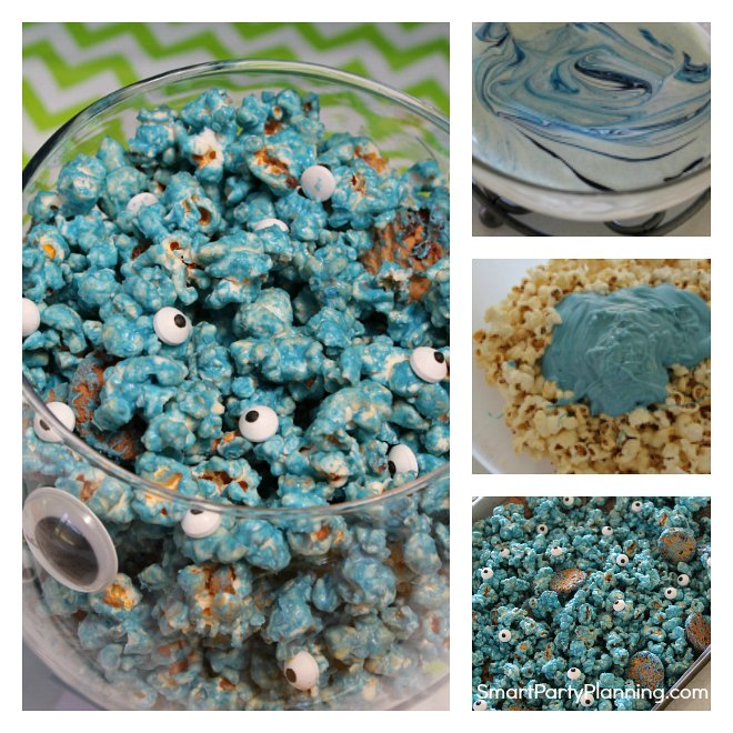 How to make blue cookie monster popcorn