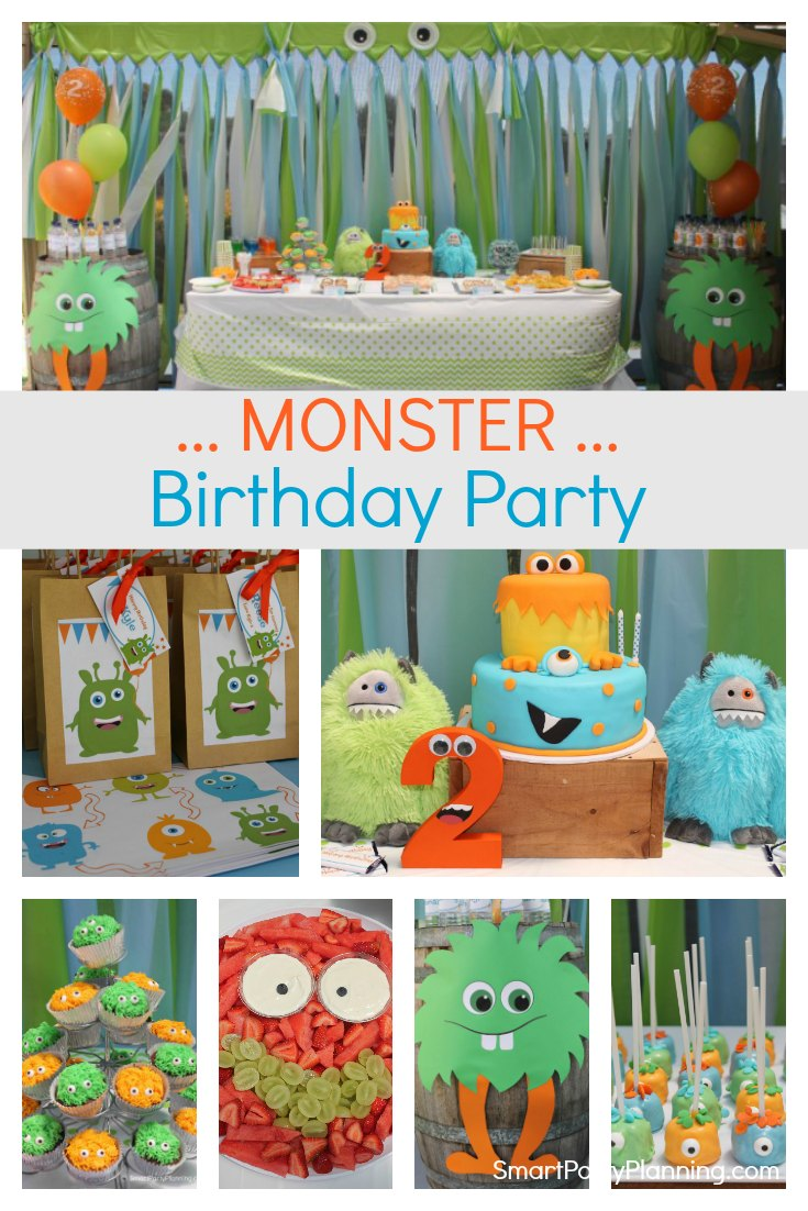 Super cute little monster birthday party that boys and girls will absolutely love. Here you will find ideas for monster themed food, decorations, favor bags and printables. This is an easy DIY party full of googly eyes and lots of fun. #Monster #Birthday #Party #DIY #Easy #Fun #Kids #Forboys #Ideas #Decorations #Food #Cake