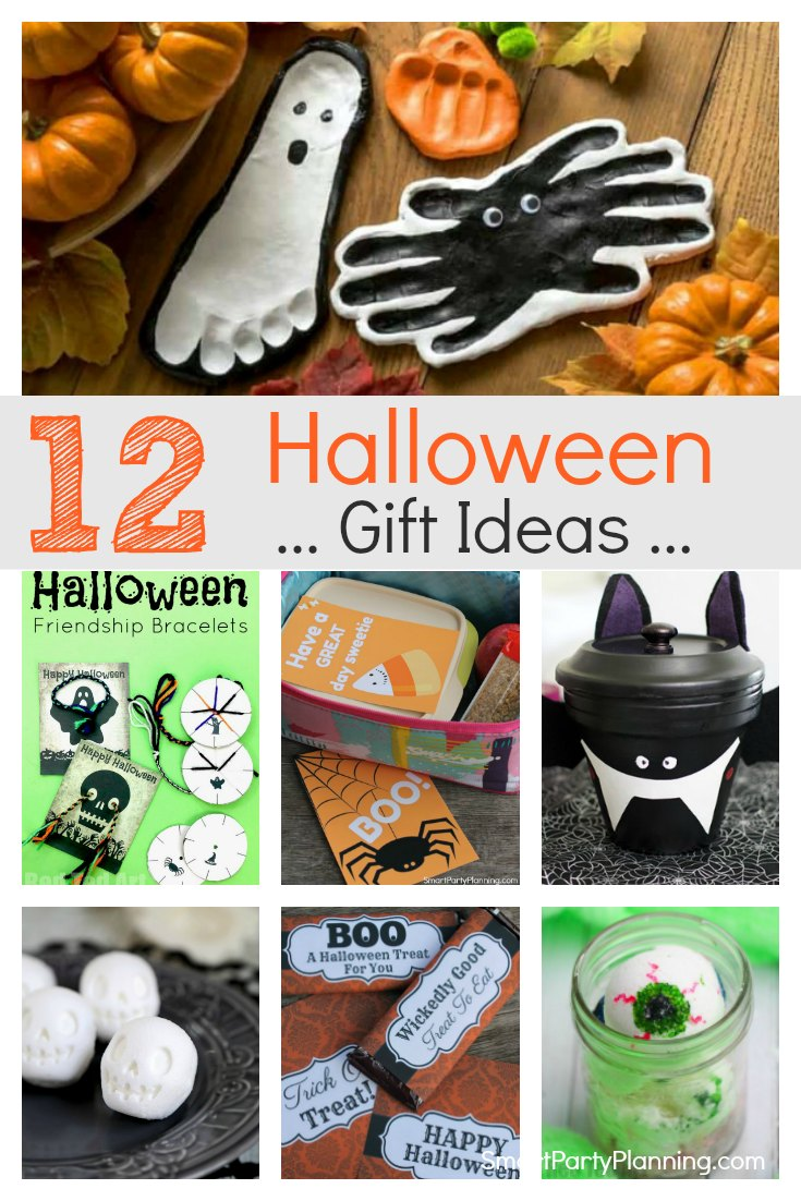 12 DIY Halloween gifts for kids, teachers, friends and family. These easy gift ideas are cheap to make but awesome to give.With candy and non candy gifts there is something for everyone to enjoy. These are homemade gifts that everyone can get involved with.