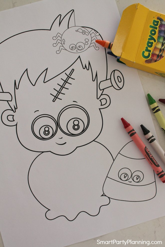 Frankenstein Halloween Coloring Sheets
