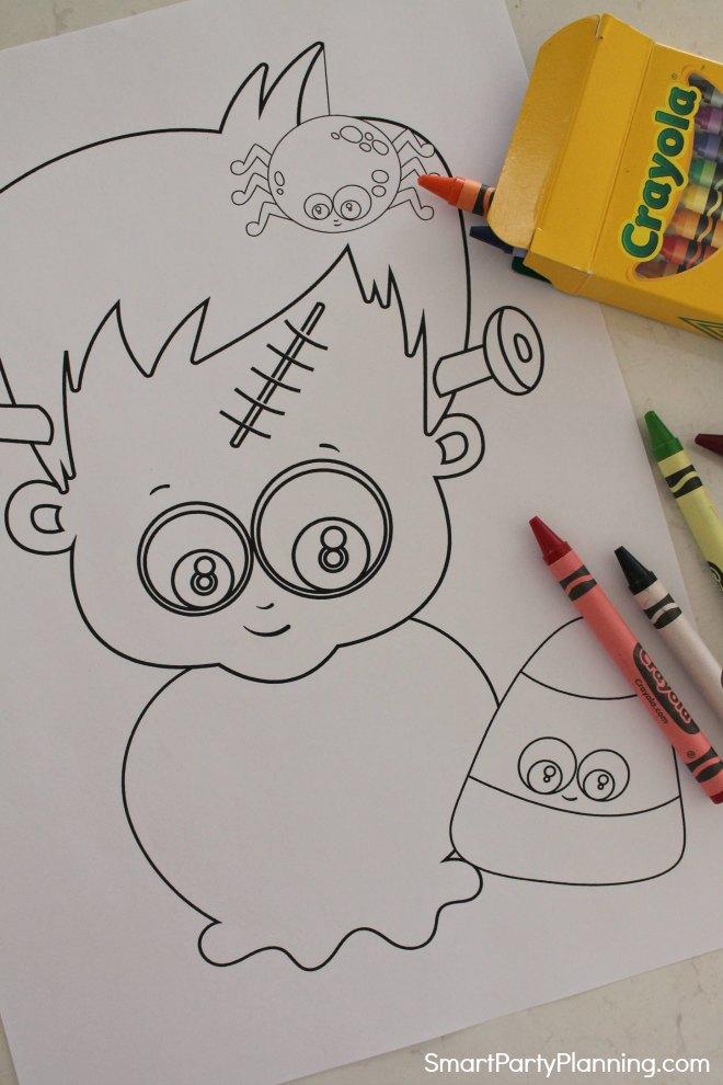 Frankenstein Halloween Coloring Sheets