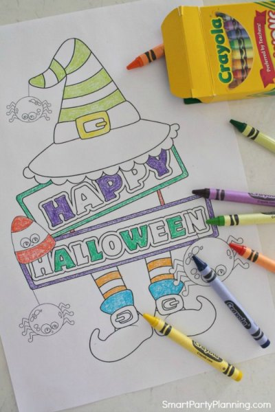 Halloween Coloring Pages Featured Image