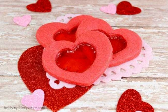 Candy Heart Cutout Cookies