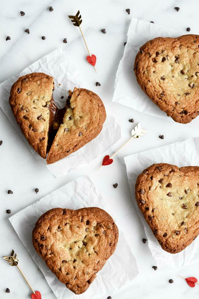 heart-shaped-chocolate-chip-lava-cookies