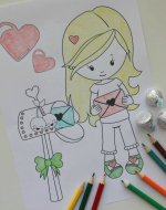 Valentines Coloring Pages Featured Image