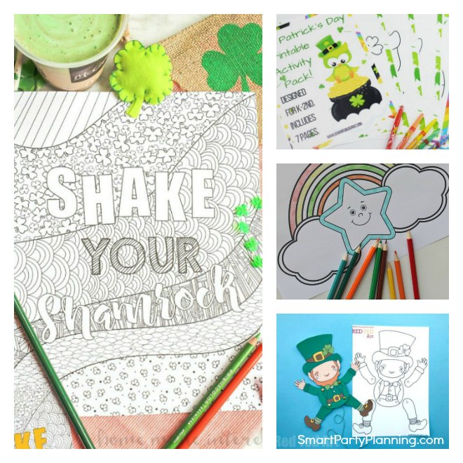 Easy St Patricks Day Coloring Pages