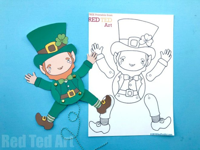 St Patricks Day Puppet