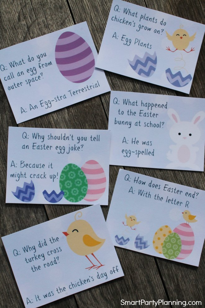 Cut out Easter Jokes for kids