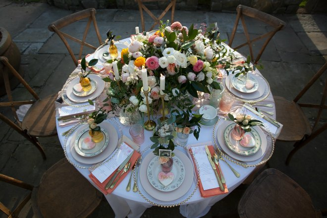 Mothers day brunch table
