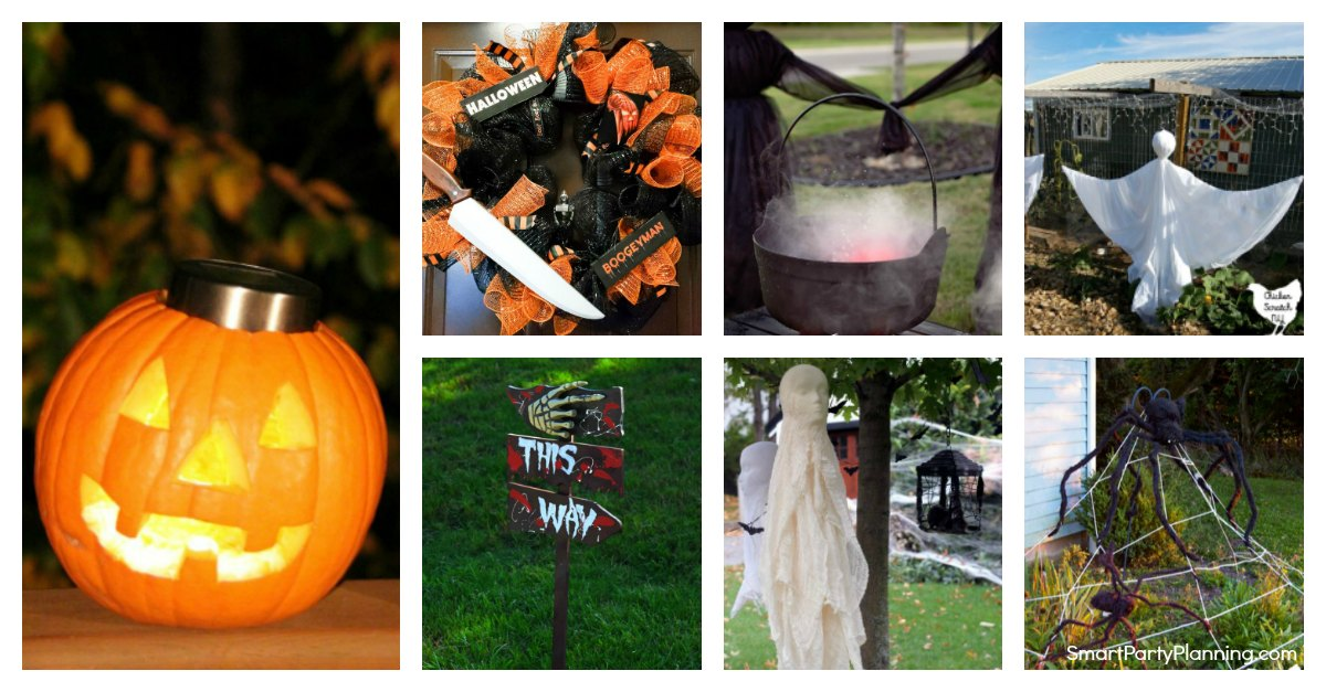 how to plan a Halloween party with DIY Outdoor Halloween Decorations