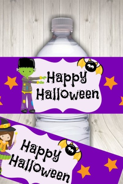 Halloween water label mock up 1