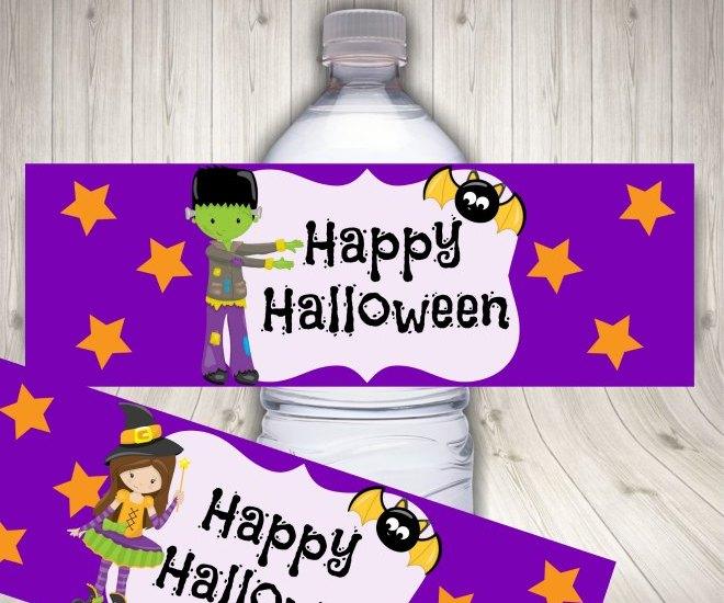 Halloween water label mock up 1