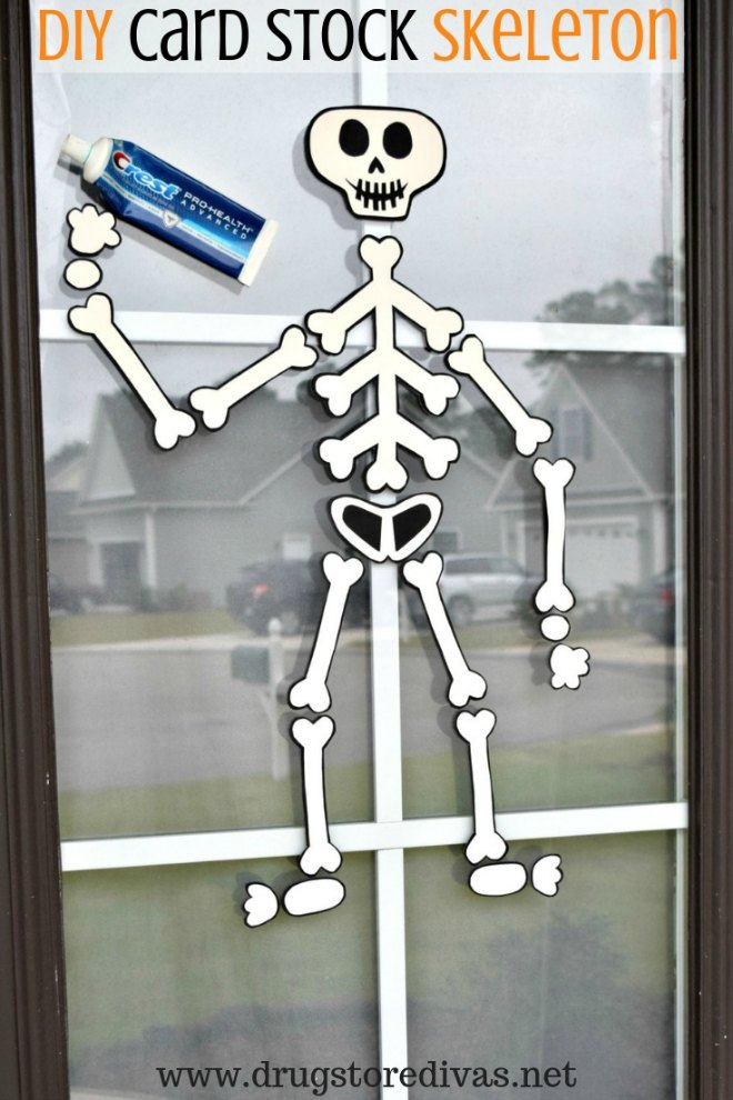 diy card stock skeleton