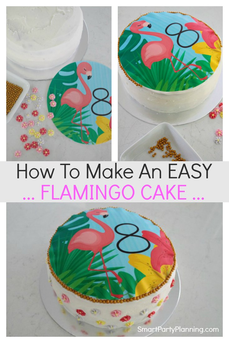 How to make a flamingo birthday cake