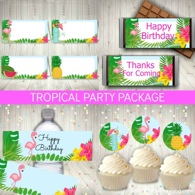 Tropical Party Printables Package