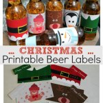 Printable Christmas Beer Labels