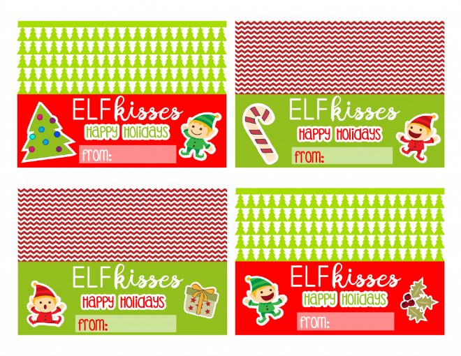 elf on the shelf bag toppers