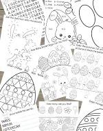 Kids Easter Activity Printable Set