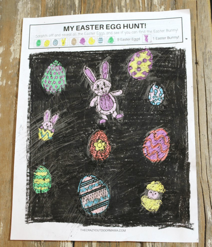 scratch and reveal Easter hunt