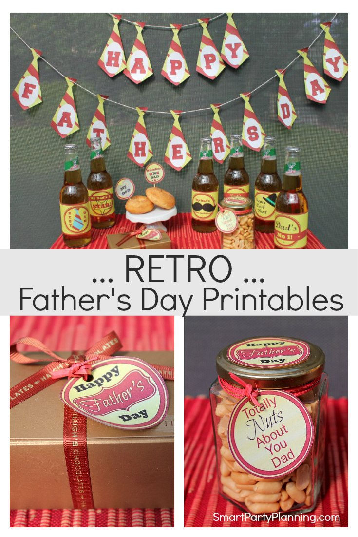 Fun Fathers Day Retro Printables