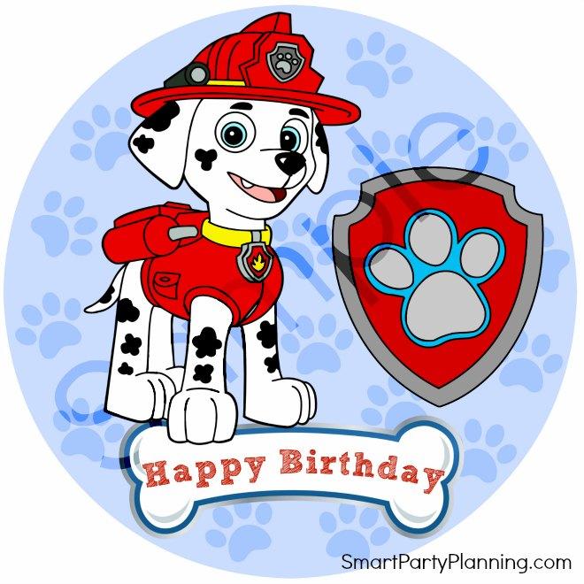 Happy Birthday Marshall Cake Topper