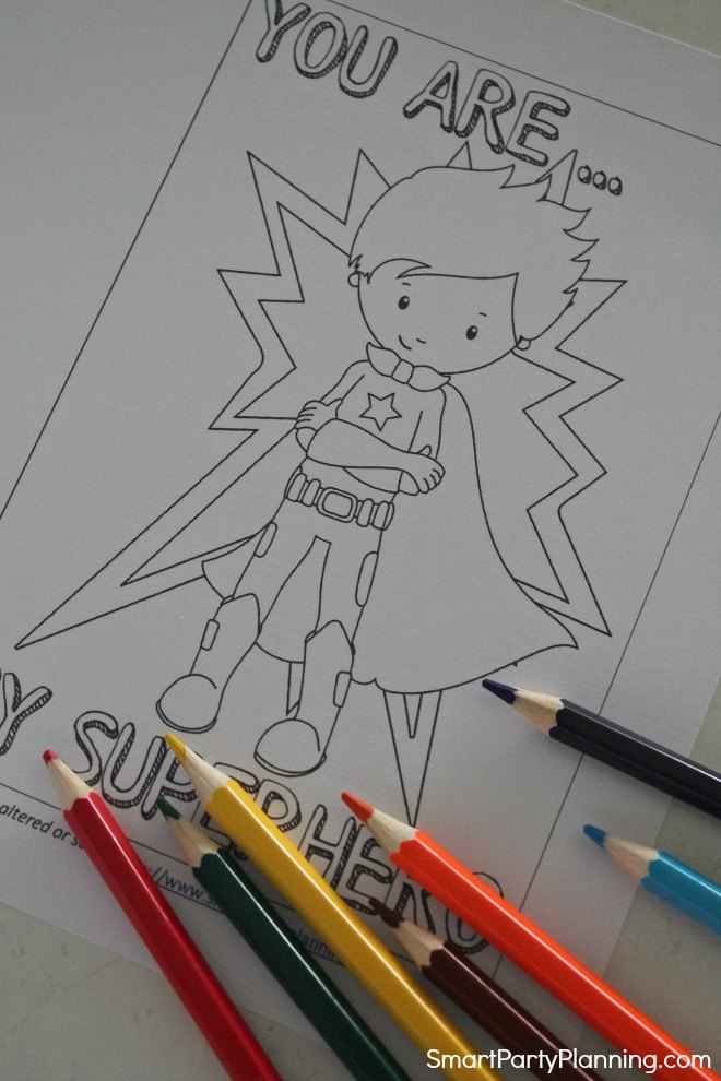 Superhero Printable Card For Dad