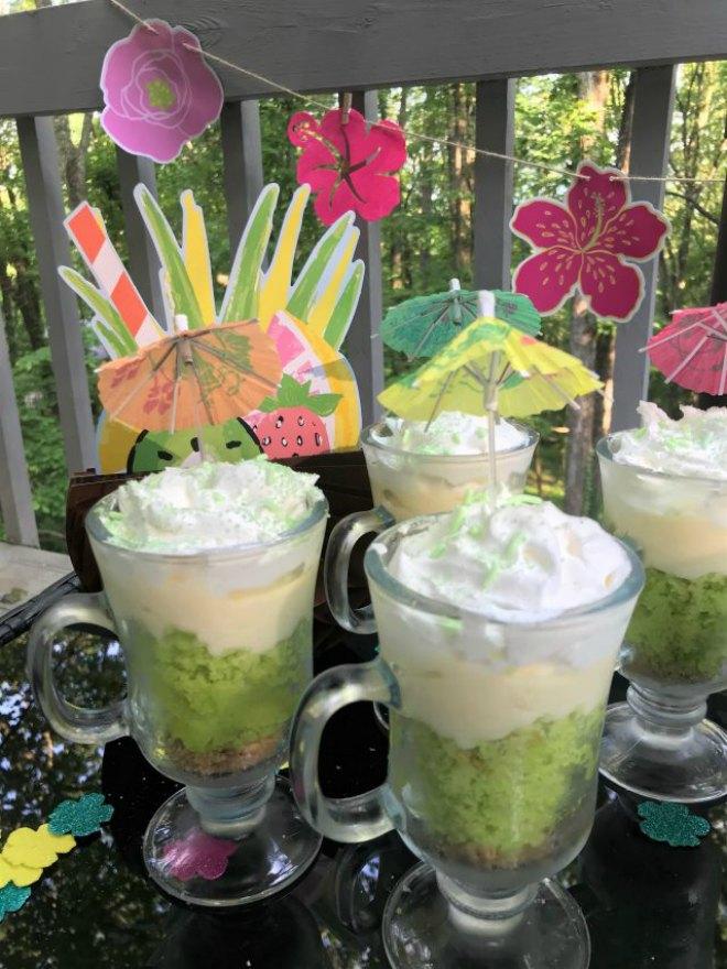 Key Lime Coconut Parfait Trifle