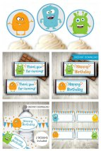 Monster Party Printable Set