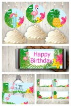 Tropical Party Printable Set