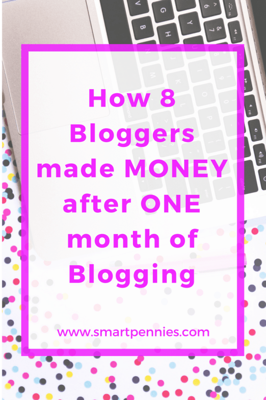 how 8 bloggers made money in their first month