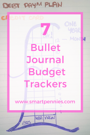 7 bullet journal budget trackers
